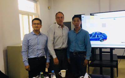 Visite de fournisseurs proche de Shanghai par J.F. KER RAULT Directeur des Achats Groupe